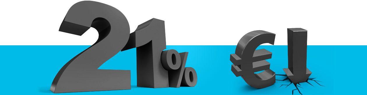 21 procent BTW korting