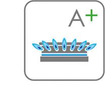 Gaskookplaten met A+ branders