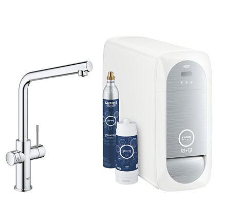 GROHE Blue Home Keukenkraan met L-uitloop - Starterskit chrome 31454000