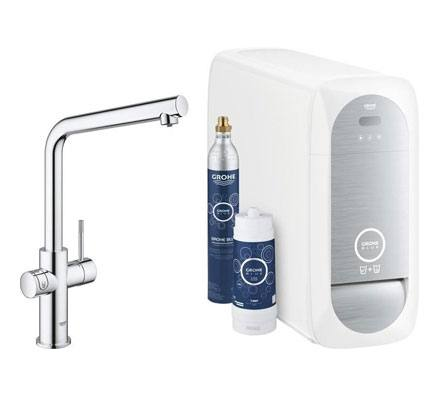 Grohe Blue Home Wifi connected L-uitloop chroom Duo - 31454001