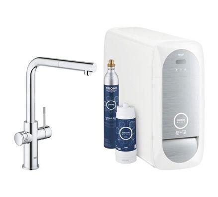 Grohe Blue Home Wifi connected + uittrekbare Mousseur L-uitloop chroom Duo - 31539000