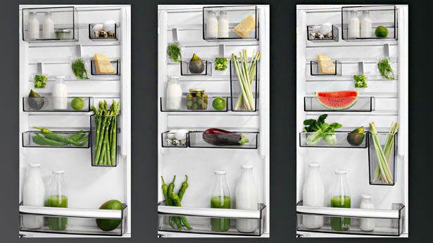 De TwinTech koelkast beschikt over AEG's CustomFlex opbergsysteem.