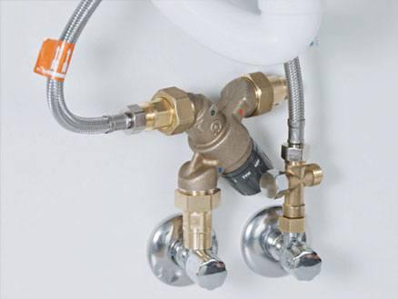 Direct warm water gevuld uit de boiler
