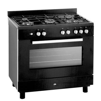 ETNA 1983ZTA - Gasfornuis met elektro-oven (90cm)