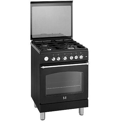 ETNA EFG691BRCA - Gas/elektro rustique fornuis met wok (60 cm)