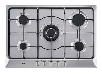 ETNA KG575RVSA - Gaskookplaat met wokbrander (75 cm)