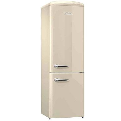 ETNA KVV594BEI - Vrijstaande 2-deurs retro koel-vriescombinatie (194 cm), Beige
