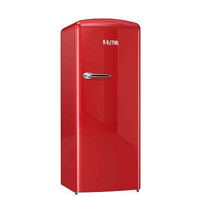 ETNA KVV754ROO - Retro koelkast met vriesvak (154 cm), Rood