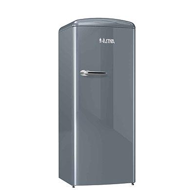 ETNA KVV754ZIL - Retro koelkast met vriesvak (154 cm), Zilver