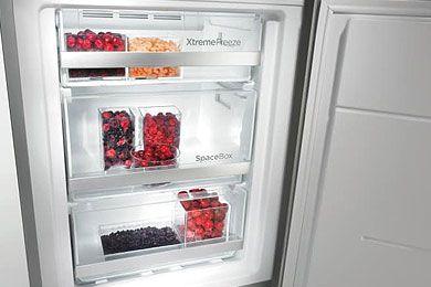 Het Total No-Frost systeem houdt het vriesgedeelte vrij van ijs- en rijpvorming.