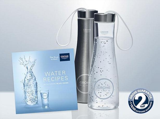 GROHE Blue Water Bottle en onze inspirerende Water receptenboekje