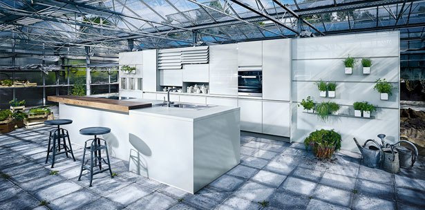 Next125 keuken - NX 902 Glas glans kristalgrijs