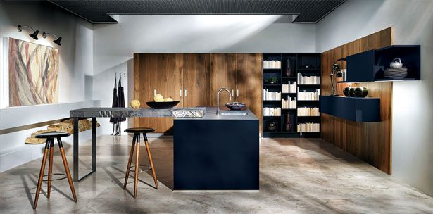 Next125 keuken - NX 902 Glas mat indigoblauw