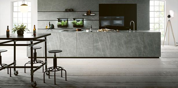 Next125 keuken - NX 950 keramiek marmer grigio imitatie