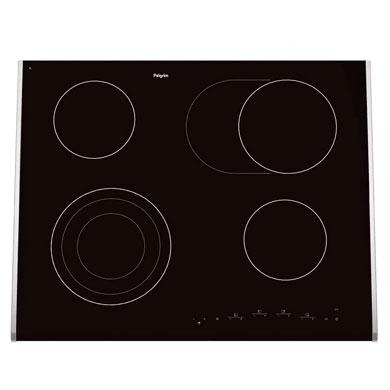 Pelgrim CKT764ONY - Keramische kookplaat, 64 cm breed
