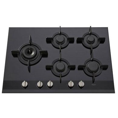 Pelgrim GK875ONYA - Gas-op-glas kookplaat A+ branders, 75 cm breed