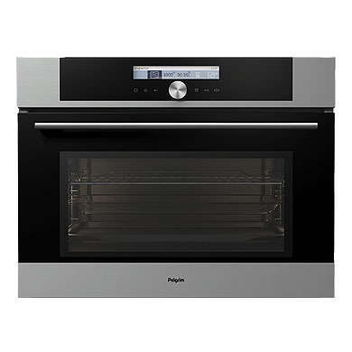 Pelgrim MAC624RVS - Multifunctionele oven met magnetronfunctie, nis 45 cm