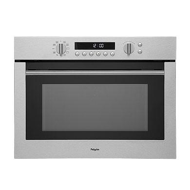 Pelgrim MAC696RVS - Hetelucht oven met magnetronfunctie, nis 45 cm