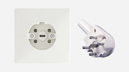 Perilex 5-polige stopcontact stekker