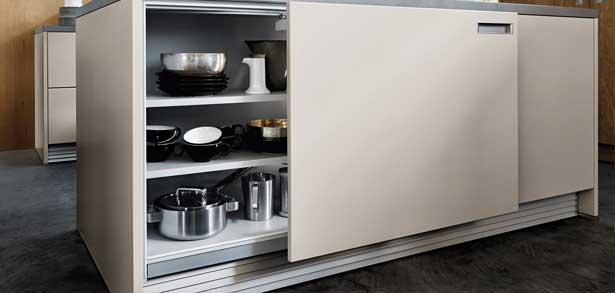 Schuifdeuren van de next125 NX510 keuken.