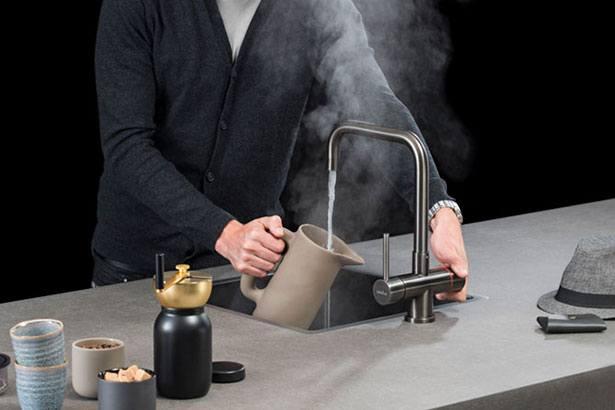 Selsiuz spoelbakken: RVS stalen spoelbak in de kleur Gun Metal