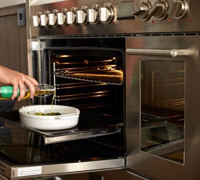 Fornuis met een dubbele oven