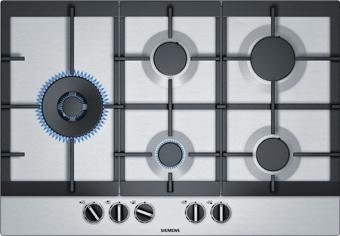 Een gaskookplaat van Siemens.