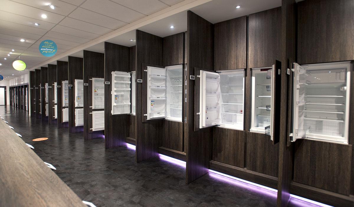 Inbouw koelkasten en koel-vriescombinaties in alle formaten.
