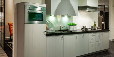 Landelijke rechte keuken I-keukenindeling