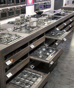 Moderne inbouwapparatuur van A-merken