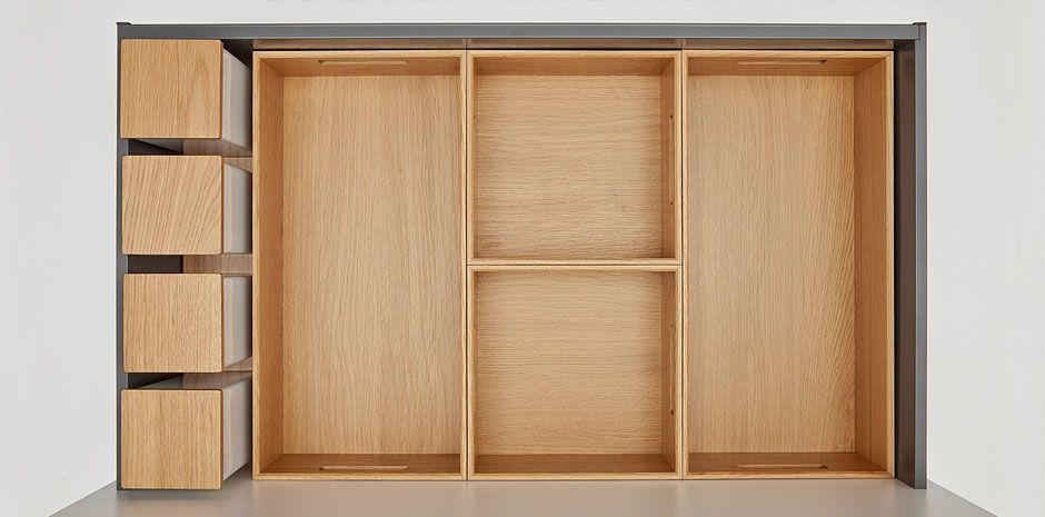 next125 Flex-Boxen kast- en lade indeling
