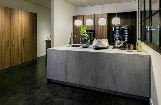 Nieuwe gewaagde betonlook hout combinatie