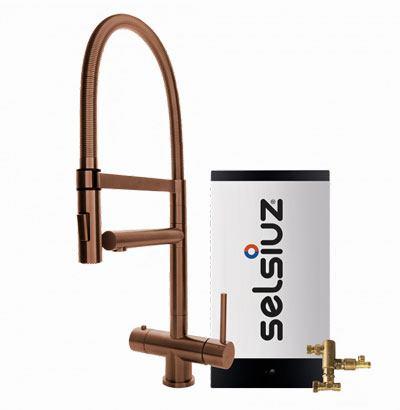 Selsiuz copper XL model met Combi extra boiler