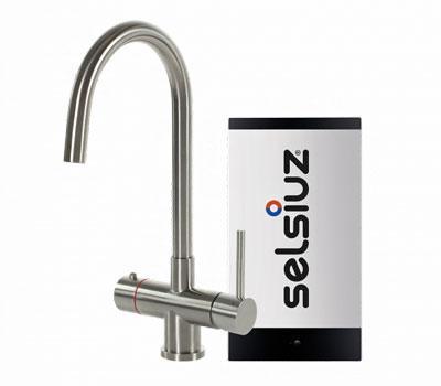 Selsiuz steel inox rond model met Single boiler
